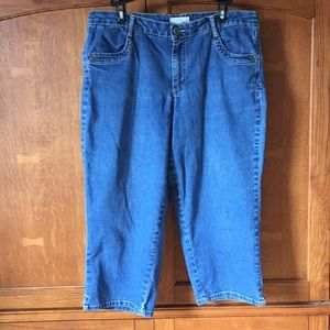 Living Planet denim capris size 14